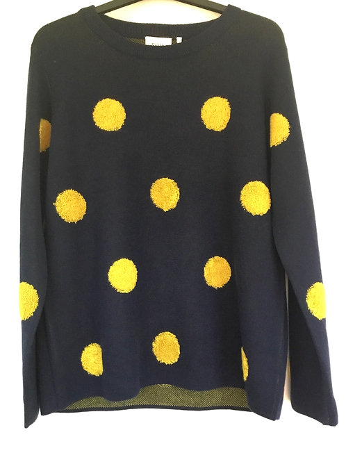 Foil - Navy and yellow spot jumper