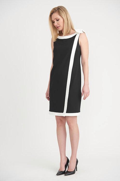 Joseph Ribkoff Elegant Black & White Dress
