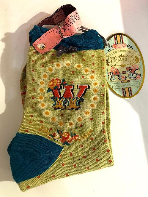 Powder - W initial socks