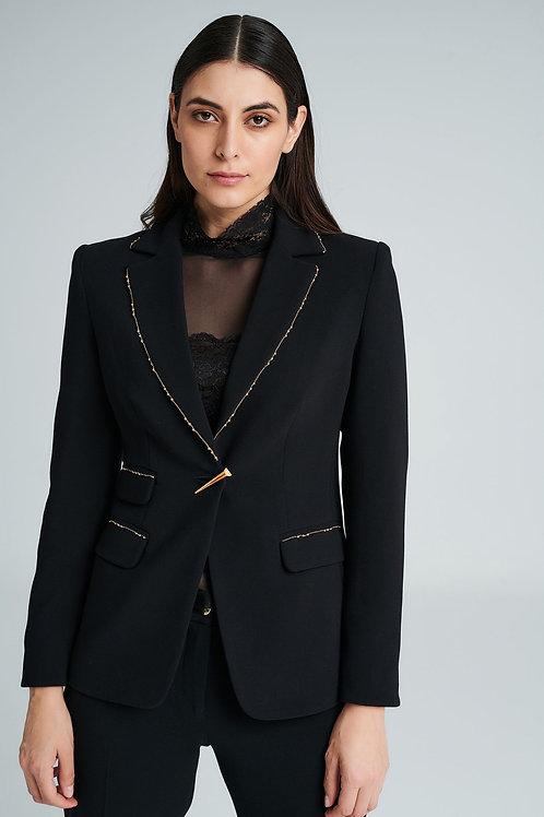 Badoo - black blazer jacket with gold detail
