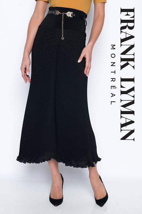 Frank Lyman - Black pleated pull on satin skirt