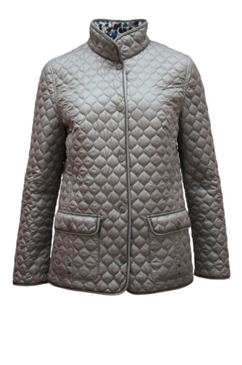 Silvery gret Reversable quilted coat.
