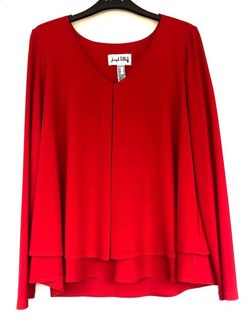 Joseph Ribkoff -  Red long sleeve blouse