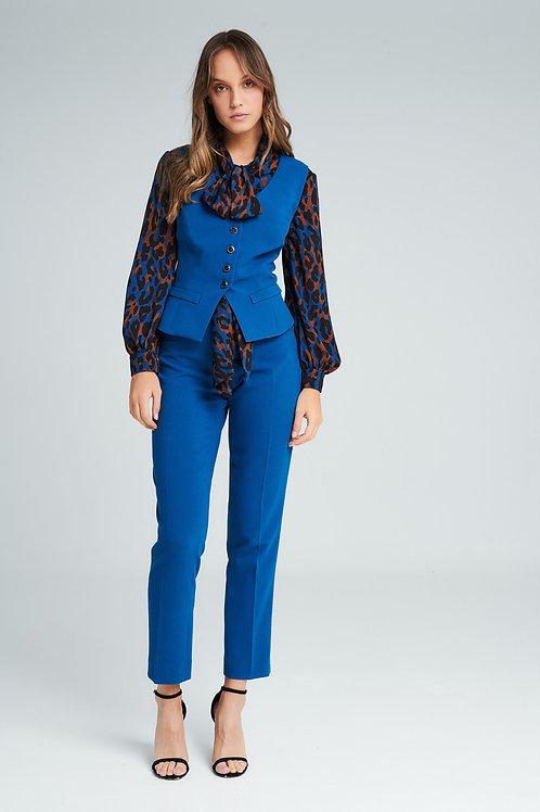 Badoo - Cobolt blue soft feel cigarette trousers