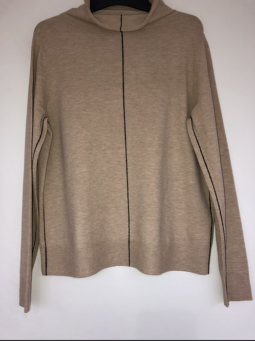 Betty Barclay - beige jumper with black detail