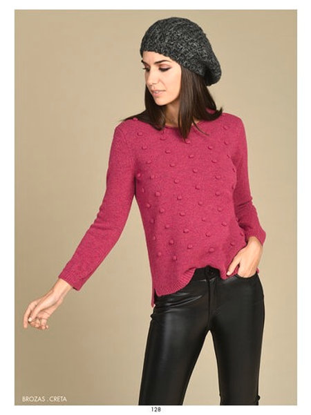 Bariloche - Pink bobble knitted jumper
