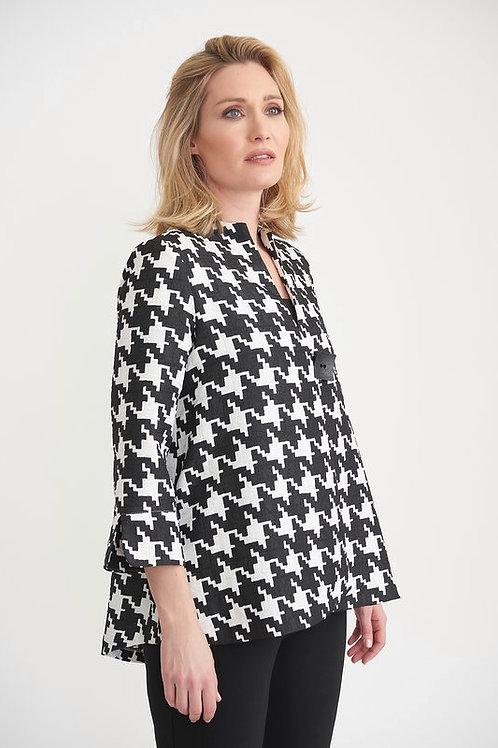 Joseph Ribkoff - Black and white dogtooth print jacket