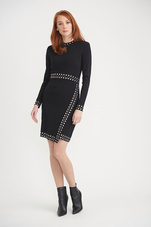 Joseph Ribkoff Black Stud Detail Dress