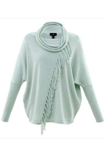 Marble -  Cotton jumper in mint with tassel from design.