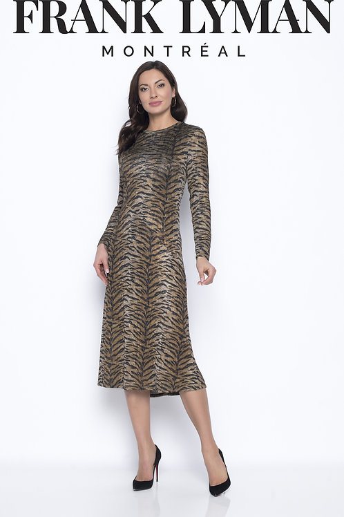 Frank Lyman - Jersey animal tiger printed dress