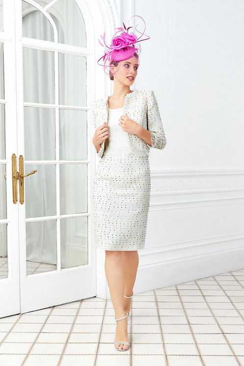 Luis Civit - Light weight tweed dress with jacket