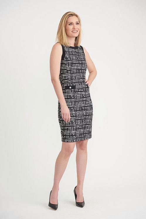 Joseph Ribkoff Classy Black & White Print Dress