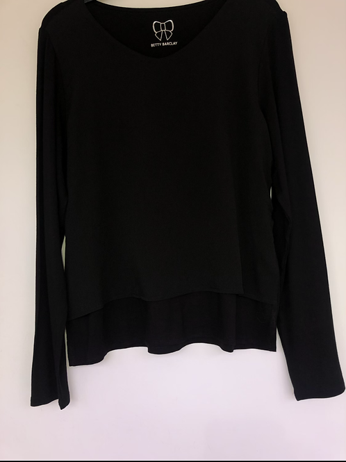 Betty Barclay - long sleeve black top