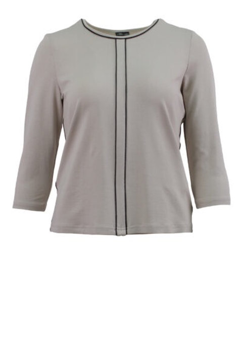 Barbara Lebek - T-top with black piping.