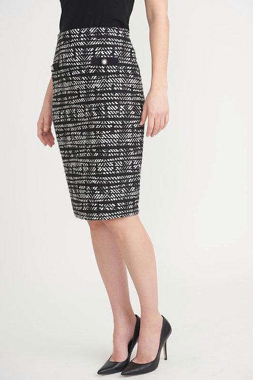 Joseph Ribkoff Black & White Print Skirt