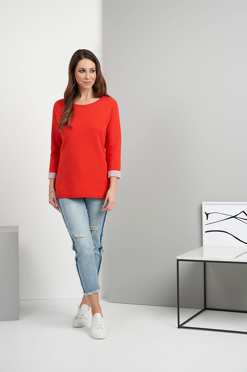 Foil - Red Jumper with grey cuff