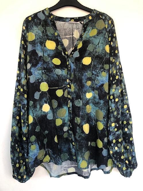 Foil - Multicoloured spot print blouse with buttons