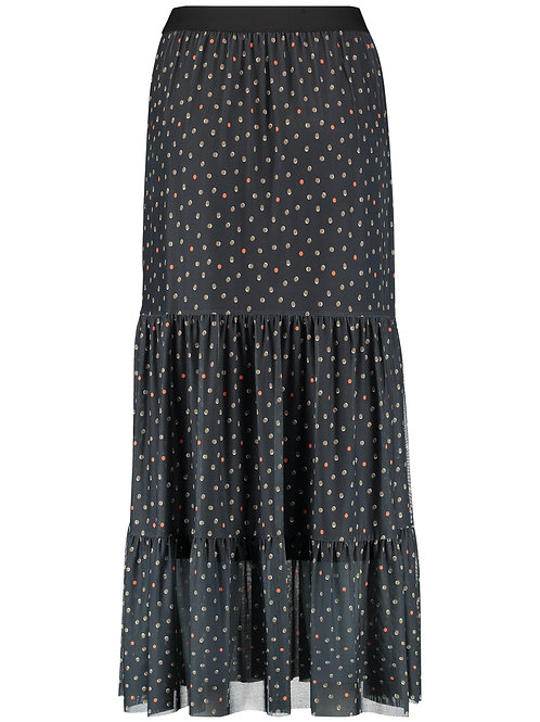 Taifun - Black spotted long skirt