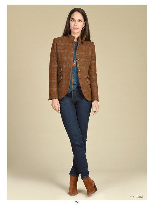Bariloche - brown and navy check tweed jacket