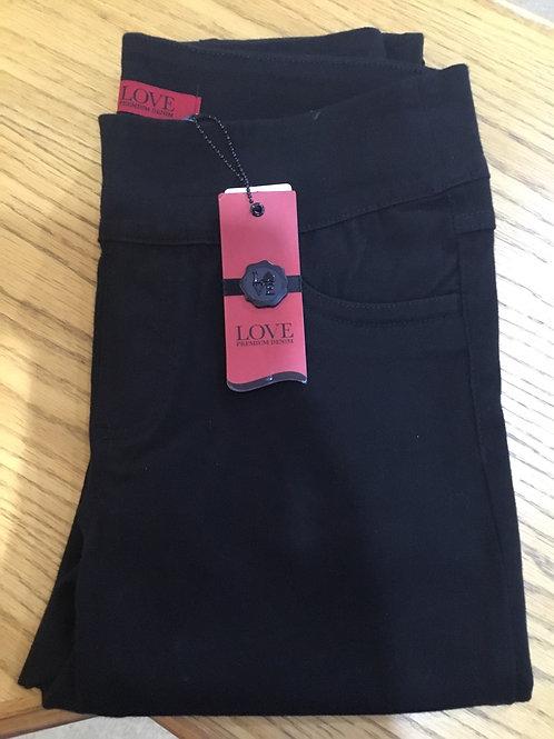 FDJ - Black Pull-on slim leg jegging