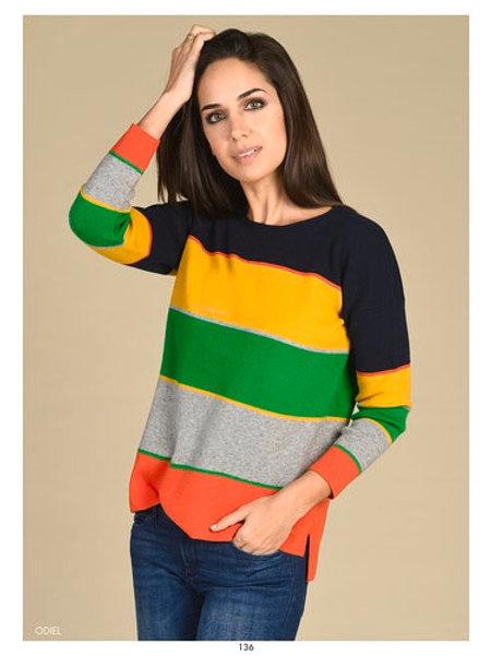 Bariloche - multicoloured stripe jumper