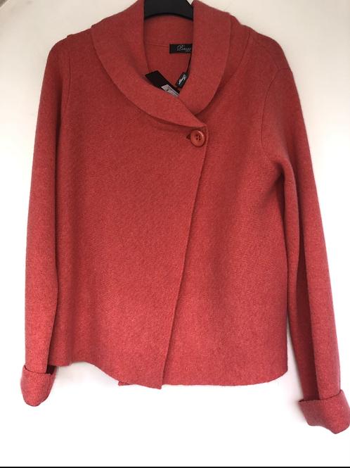 Peruzzi - dusky coral button front cardigan jumper