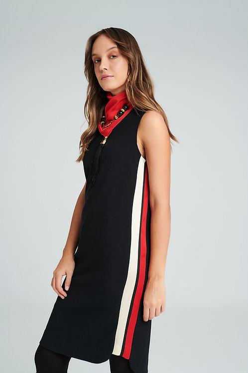 Badoo - black dress with side stripe