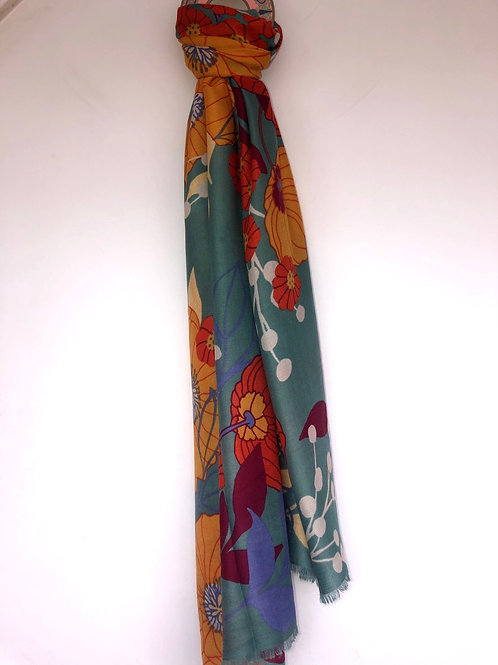 Powder - Scarf with floral design