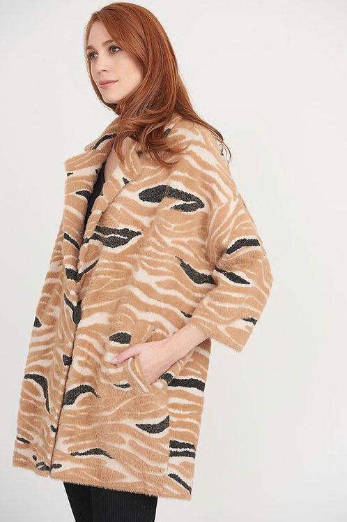 Joseph Ribkoff Cosy Camel Printed Coat