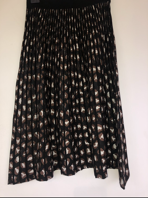 Betty Barclay - printed knitted pleated skirt
