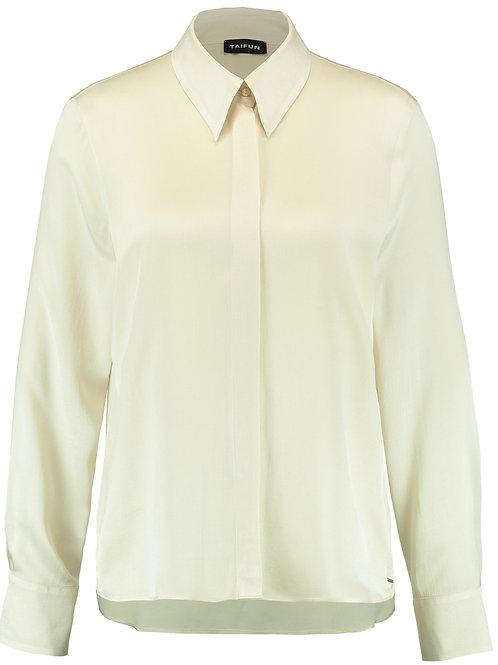 Taifun - Ivory silky blouse