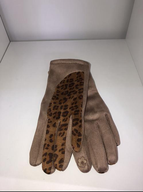 MSH - Beige animal print gloves
