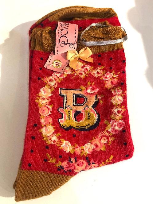 Powder - B initial socks