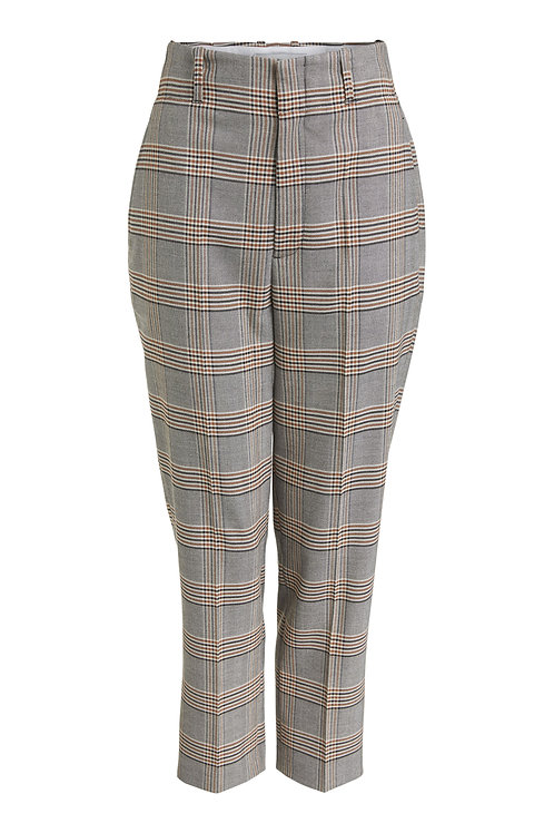 Oui - Tailored plaid trousers