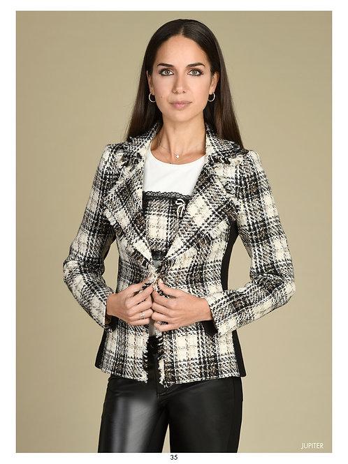 Bariloche - multicoloured short tweed jacket