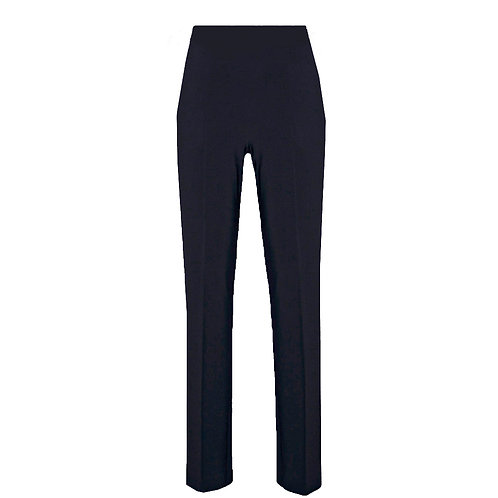 Joseph Ribkoff - Luxury jersey black pull on trousers with back split.