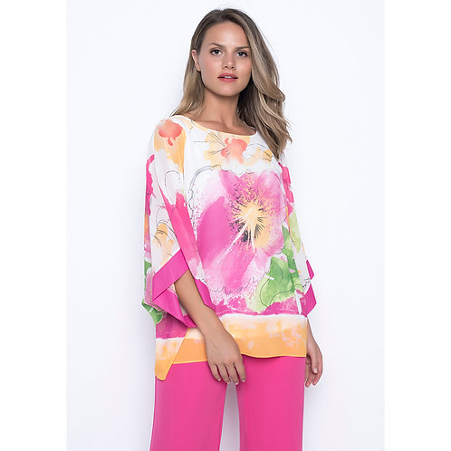 Frank Lyman - Two piece tunic in fushia/orange floral, with trousers