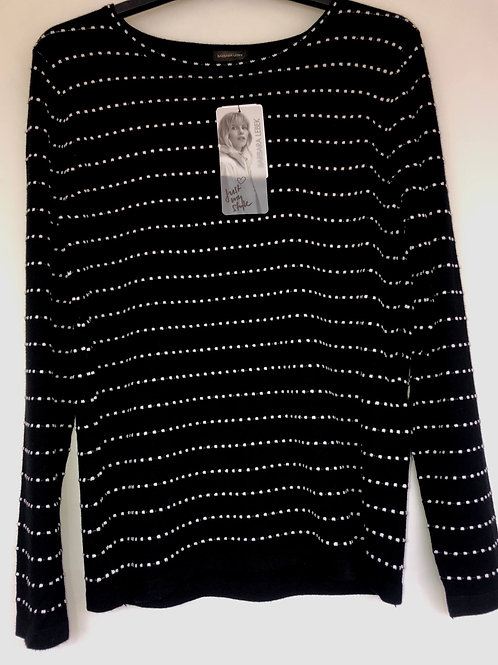 Betty Barclay - black and white spot knit