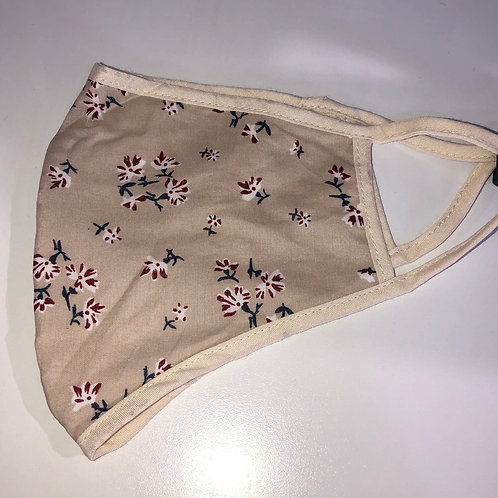 MSH - nude floral non medical fabric mask