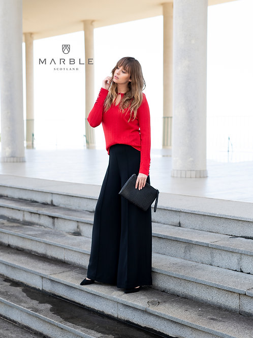 Marble - Wide leg black trousers