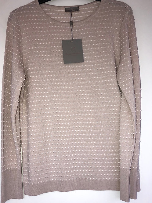 Maria Bellentani - Cream textured jumper