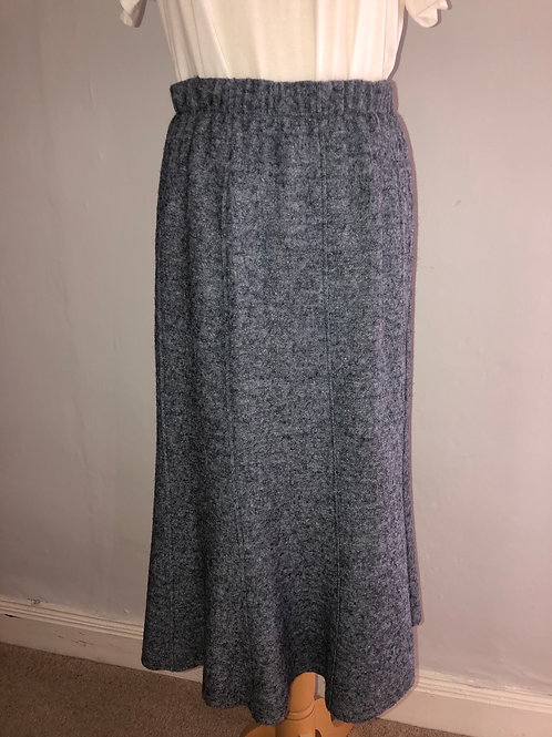 Q'neel - Boiled wool Blue/Grey skirt