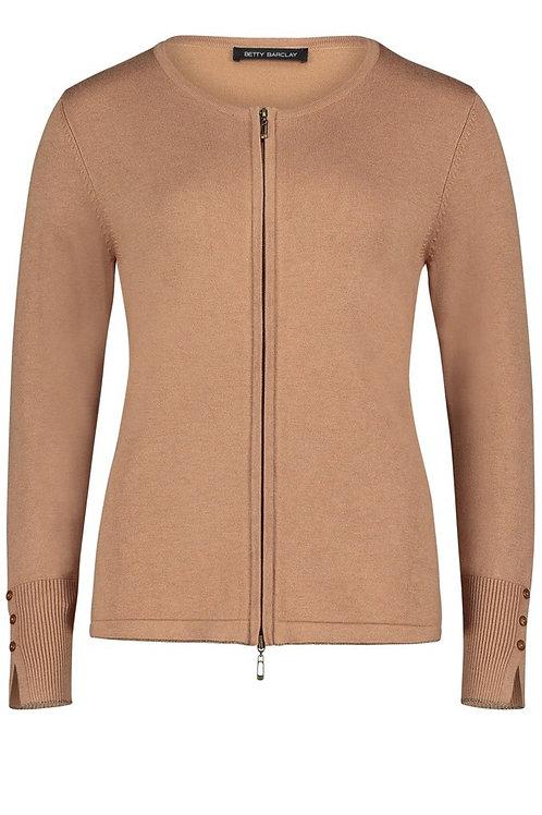 Betty Barclay - camel zip front jumper