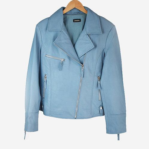 Pomodoro - powder blue leather jacket