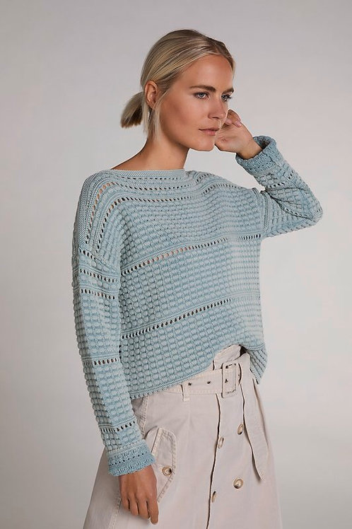 Oui - Sage Green Knitted Jumper