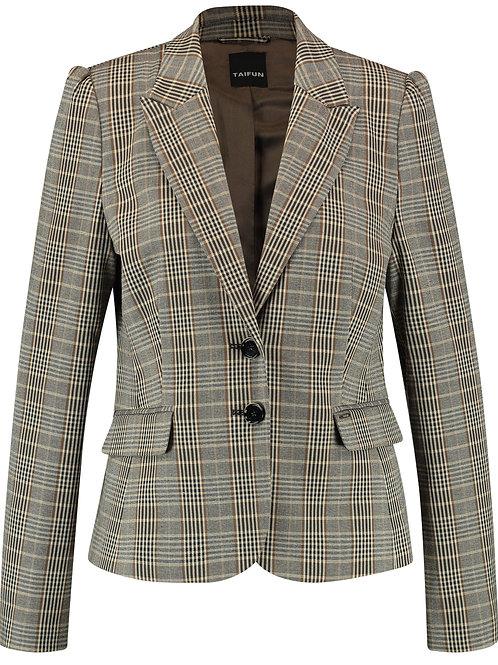 Taifun - Brown plaid light blazer jacket
