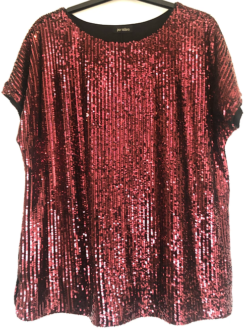 Pomodoro - Red sequin top