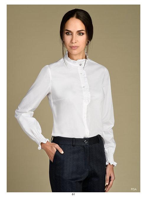 Bariloche - white frill detail blouse