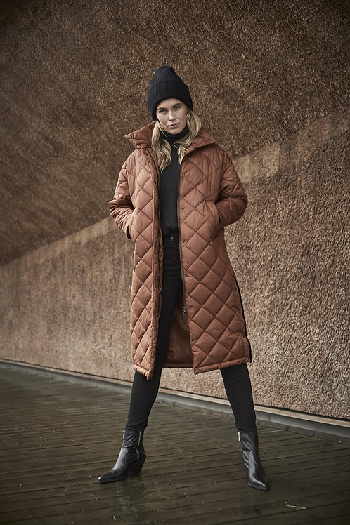 Fransen - Bronze padded full length coat