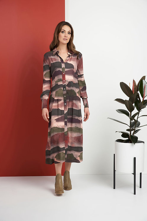 Foil - multicoloured camouflage shirt dress